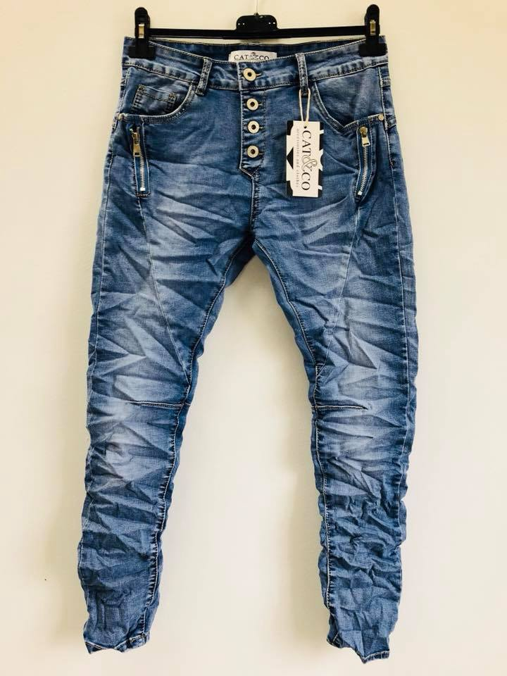 d085fcfa Jeans med stretch Ljus denim | Fancy For You